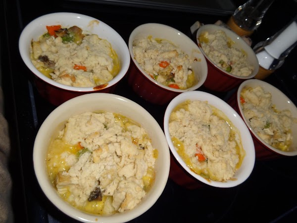 Drop dough by level tablespoon onto chicken mixture.