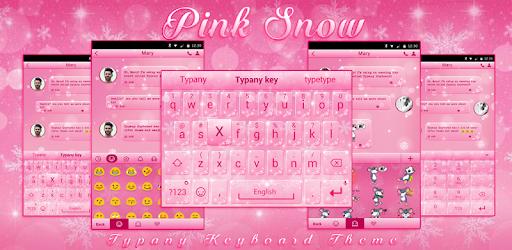 Pink Snow Theme&Emoji Keyboard Aplicaciones (apk) descarga gratuita para Android/PC/Windows screenshot