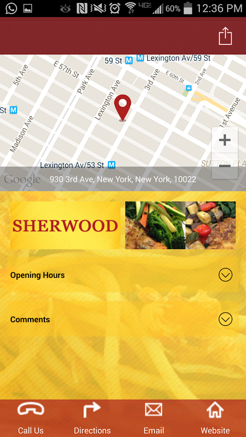 Sherwood NYC- screenshot
