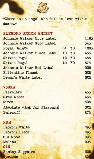Cafe Illuminatii menu 2