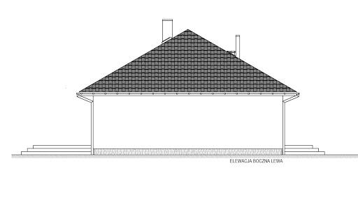 Domek Mokka 053 ES - Elewacja lewa