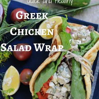 Greek Chicken Salad Flatbread.