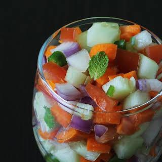 vegetable salad - Indian vegetable salad.