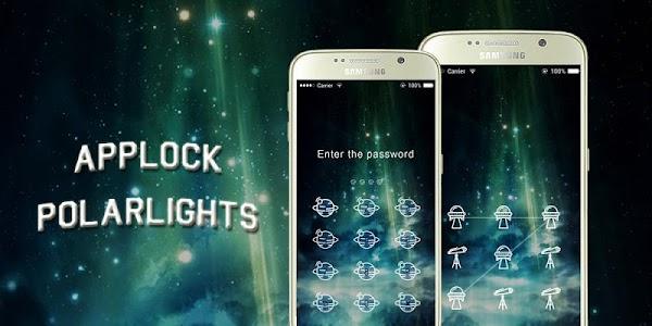 AppLock Theme Polar Lights screenshot 3