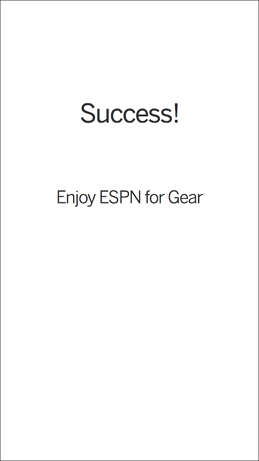 ESPN Companion for Gear- screenshot