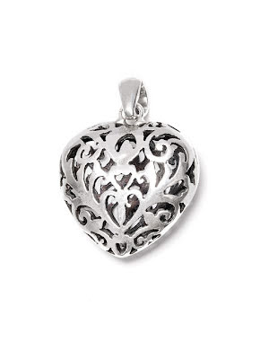 Hjärta, hänge i silver