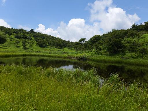 暫く池を見ながら休憩