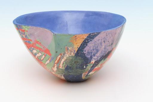 Carolyn Genders Vessel entitled 'Blue Interior Abstraction IV'