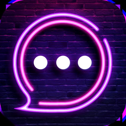 Neon Messenger for SMS  Emojis original stickers