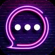Neon Messenger for SMS - Emojis, original stickers apk