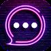 Neon Messenger for SMS - Emojis, original stickers icon
