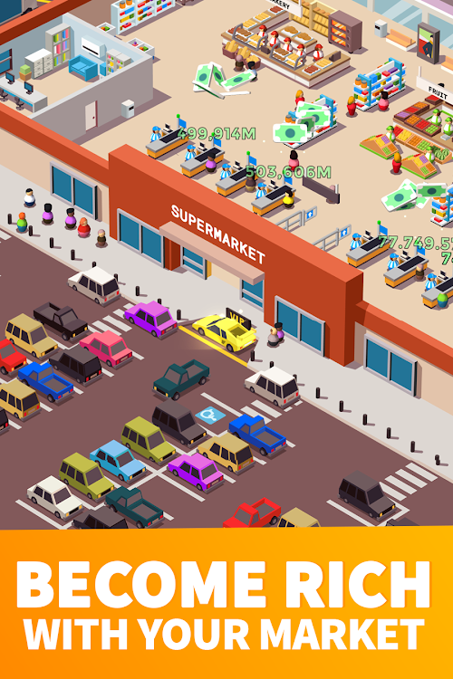 Screenshot 2 Idle Supermarket Tycoon - Tiny Shop Game 1.21 APK MOD