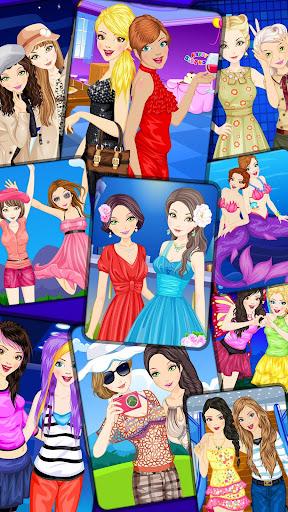 女の子のための最高の友人のドレスアップ
