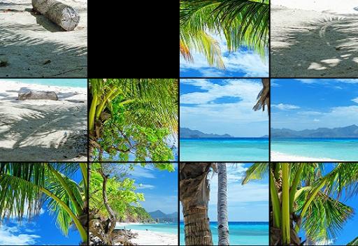 Tropical Slide Puzzle