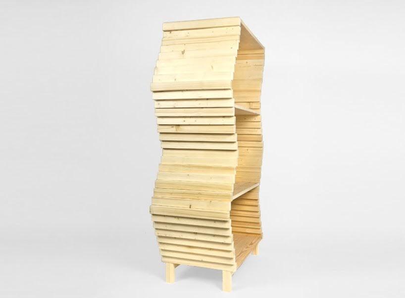 Esta estantería diseñada por Studio Lorier puede cambiar su forma