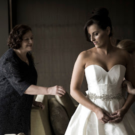 Beauty in the Moment by Laura Ushay - Wedding Getting Ready ( wedding gown, soft lighting, wedding, getting ready, bride, best female portraiture )