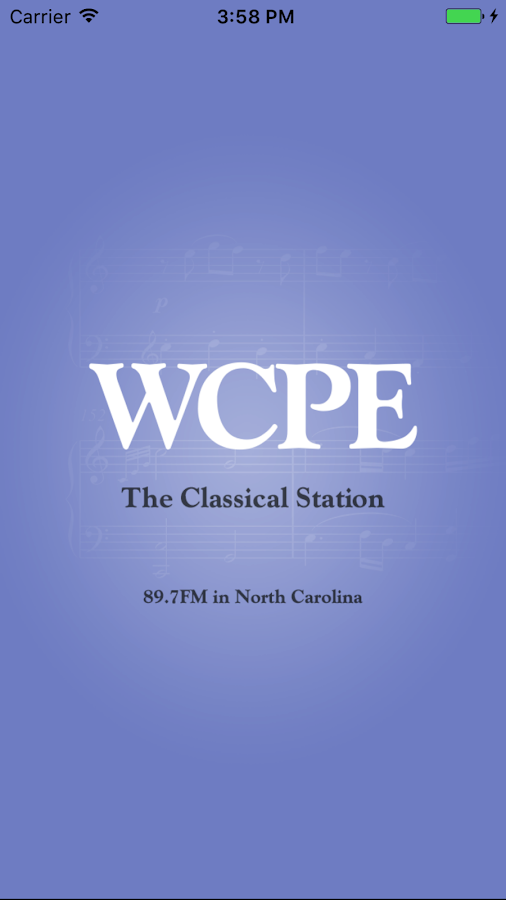 WCPE The Classical Station App: screenshot
