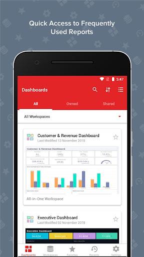 Zoho Analytics – Mobile BI Dashboards screenshot 1