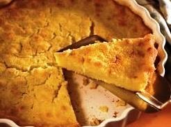 Pour into prepared pan, or into pie crust and bake for 50-55 minutes, until...