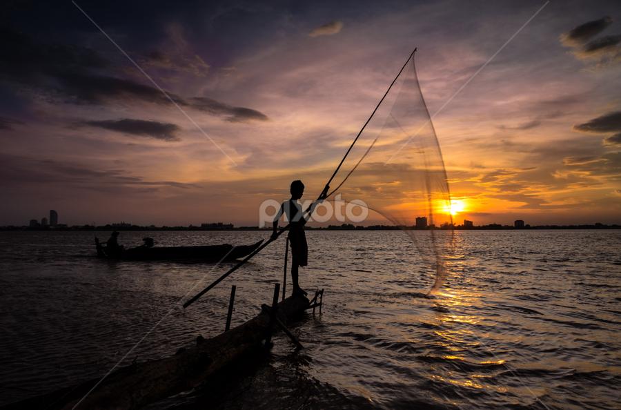 go fishing ! by Ravuth Um - Landscapes Sunsets & Sunrises