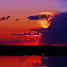 Child's Play by Laura Bentley - Landscapes Waterscapes ( water, child, colorful, sunset, beautiful, summer, sillouette )