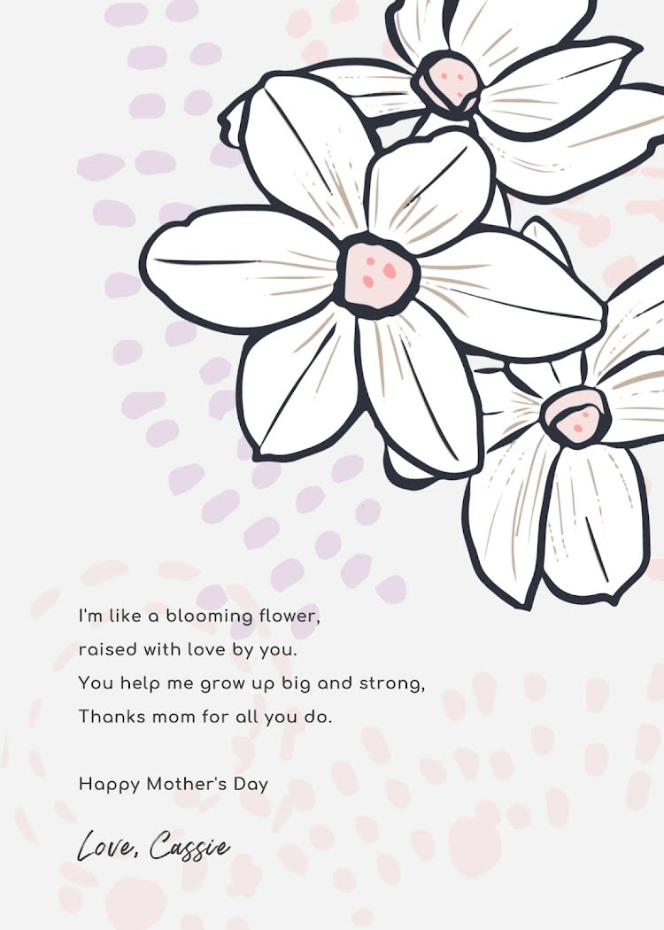Grow Up Big & Strong - Mother's Day Card Template