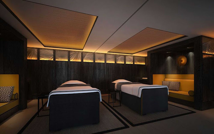 The spa aboard the new luxury cruise ship Scenic Spirit.