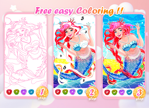 Princess Coloring Book: Special Color by Number screenshots 4