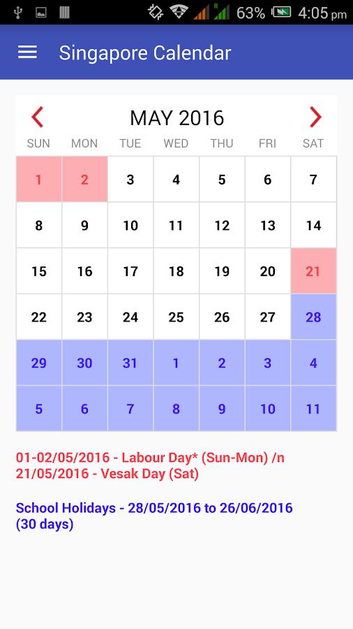 Calendar Singapore : Singapore calendar android apps on google play