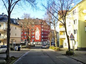 Photo: Kreuzung Grünstraße der Buscheystraße aus Richtung EIngangsbereich des Allgemeinen Krankenhauses (AKH) betrachtet.