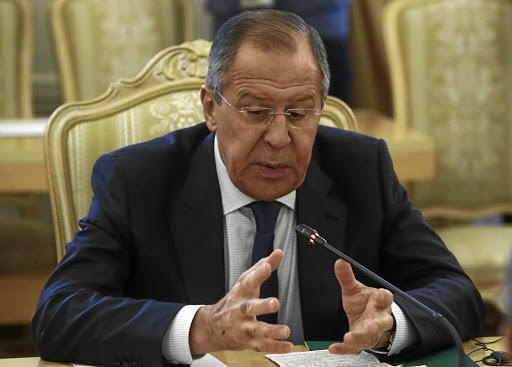 Warning: Russian Foreign Minister Sergei Lavrov has called a bomb raid on Syria's T-4 airbase that killed 14 fighters a very dangerous development. Picture: REUTERS