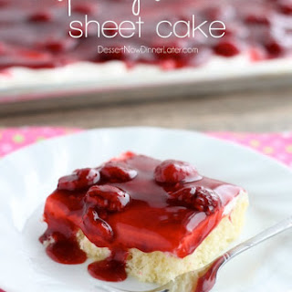 Raspberry Shortcake Sheet Cake
