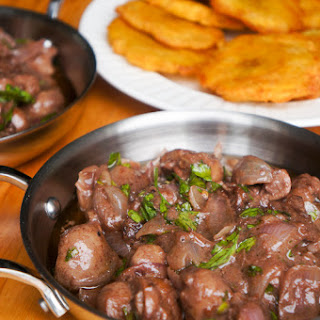 Veal kidneys in a Tamarind and Red Wine sauce.