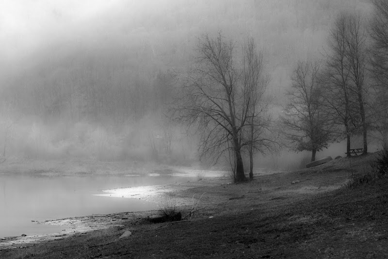 Il lago a Gennaio di antonioromei