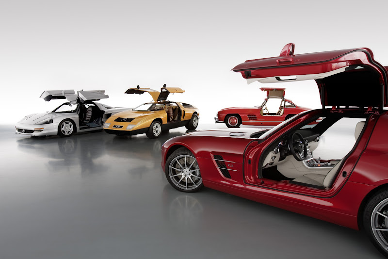 Photo: You won't often see all four of our gullwings in one place, but here they are.