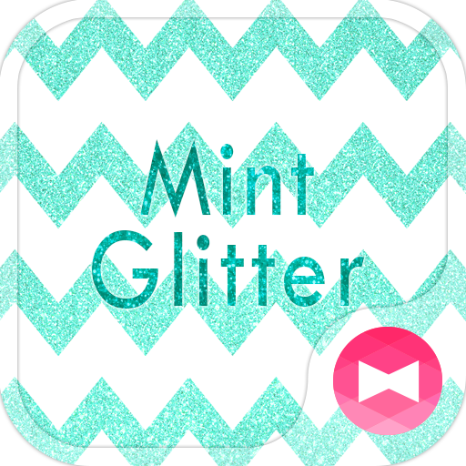 Cute Wallpaper Mint Glitter Icon