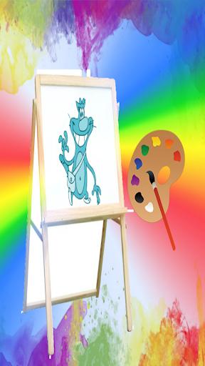 Oggy Coloring Fun