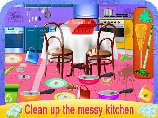 Girls House Dish Washing Kitchen Cleaning Game 1.0.2 de.gamequotes.net 2