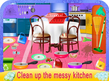 Girls House Dish Washing Kitchen Cleaning Game - náhled
