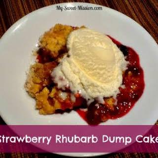 Strawberry Rhubarb Dump Cake.