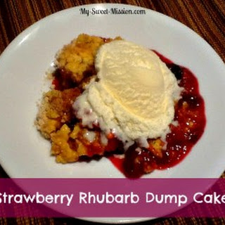 Strawberry Rhubarb Dump Cake.