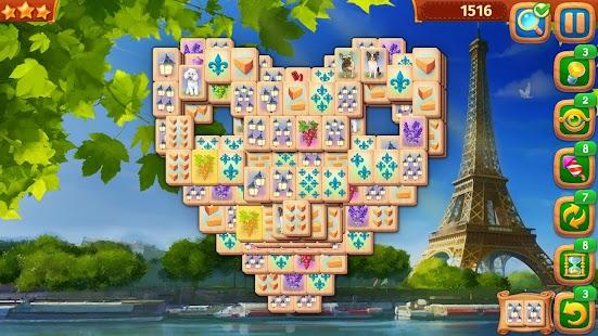 麻將連連看 - 上海之旅:麻雀牌配對冒險任務 Screenshot
