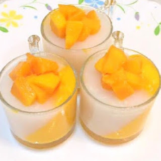 Mango And Coconut Panna Cotta.