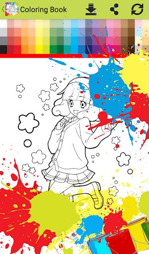 Princess anime Coloring Books for Kids Free Games 1.0 screenshots 8