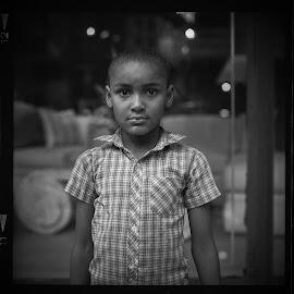 Street Portrait, NYC 1984 by Bruce Martin - Black & White Street & Candid