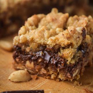 Crunchy Peanut Butter Oatmeal Dulce De Leche Bars
