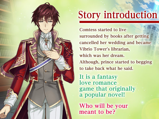 first page of love | otome dating sim otome game screenshot 3