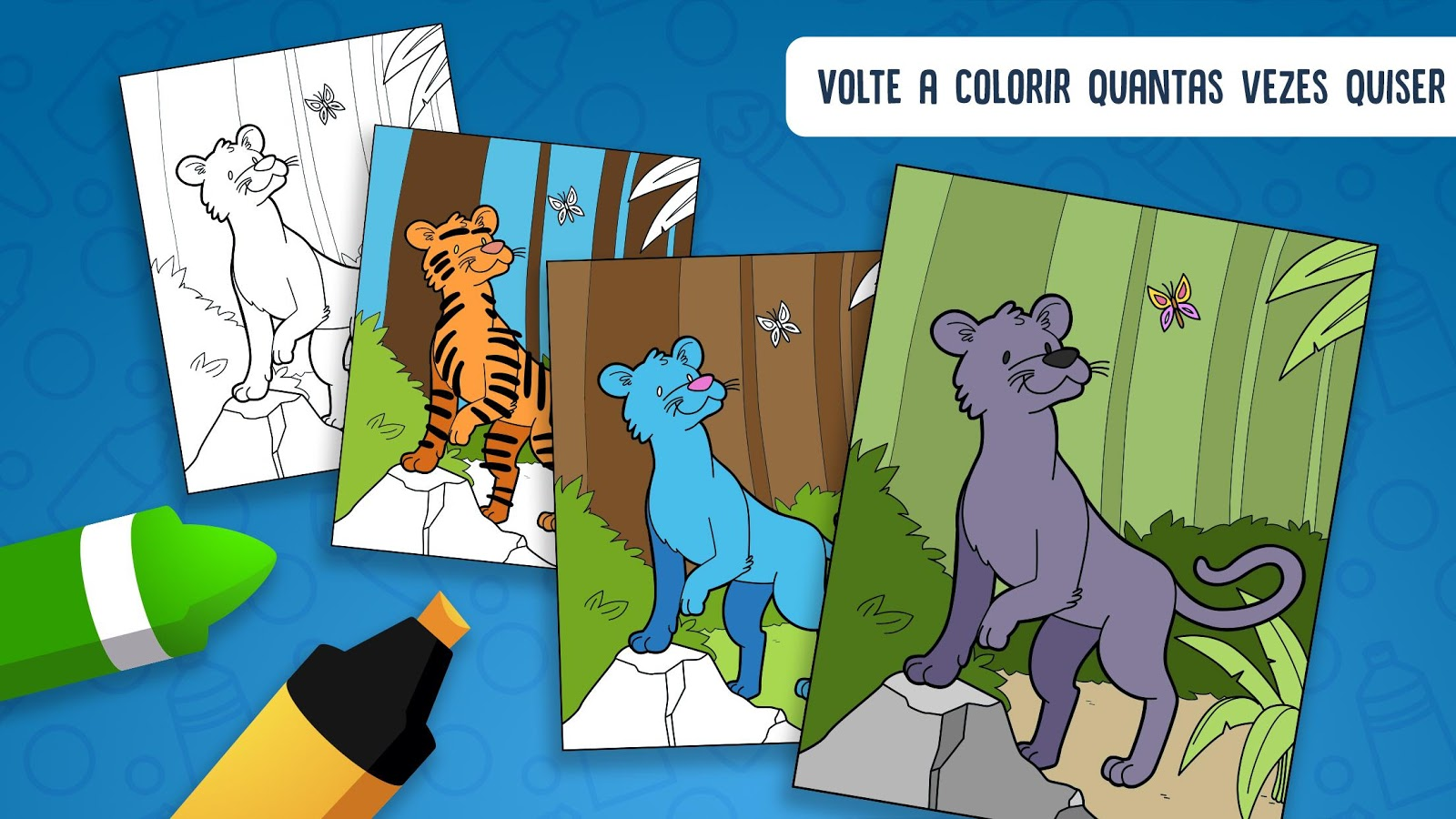 Hellokids colora animais: captura de tela