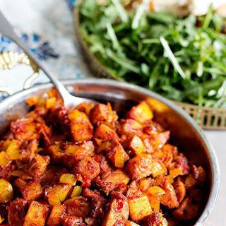 Persian Sausage and Potato Skillet – Sosis Bandari.