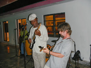Photo: Owner Rupert Leadon always has a band on the night that the MRO group arrives....and this always seems to happen!
